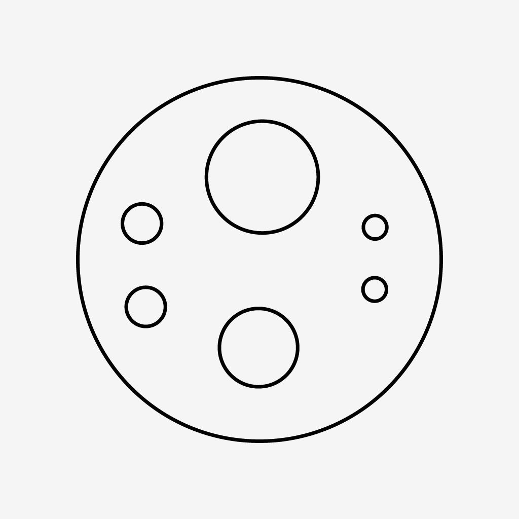 6-Loch Schlauchanschluss