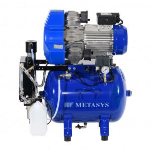 Das Produkt Metasys META Air 250 Kompressor für 3 Arbeitsplätze, 400 Volt, Membrantrockner, Schalldämmbox 03020126  aus dem Global-dent online shop.