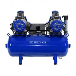 Das Produkt Metasys META Air 450 Light Kompressor für 6 bis 7 Arbeitsplätze, 400 Volt,  Schalldämmbox 03020107 aus dem Global-dent online shop.