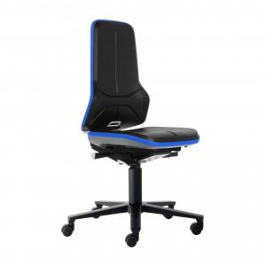 BIMOS Neon 2 Arbeitsstuhl, Synchrontechnik, Ergonomiepaket, Flexband Blau, Integralschaum Polsterelement Grau 9573 3277 9588 2002