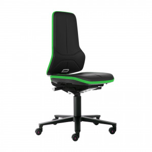 Das Produkt BIMOS Neon 2 Arbeitsstuhl, Synchrontechnik, Ergonomiepaket, Flexband Grün, Kunstleder Polsterelement Schwarz 9573 3280 9588 MG01 aus dem Global-dent online shop.