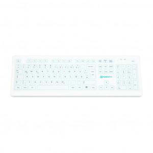 PUREKEYS Medizinische Tastatur Standard, kabellos, IP 66-Weiß 50004900