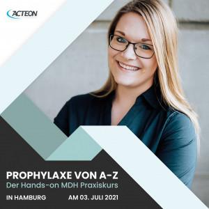 Das Produkt Acteon MDH Praxiskurs Prophylaxe von A bis Z,  Design Offices Hamburg, 03. Juli 2021 aus dem Global-dent online shop.