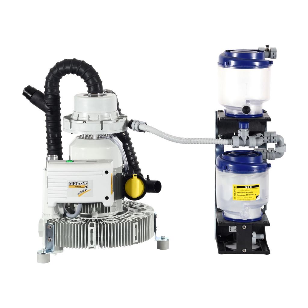 Das Produkt Metasys EXCOM hybrid A2 Sauganlage für 2-3 Behandlungseinheiten mit Amalgamabscheider ECO II D ohne Schalldämmbox 02010227 aus dem Global-dent online shop.