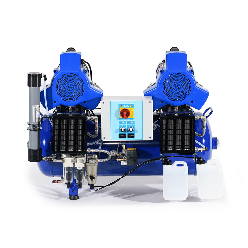 Das Produkt Metasys META Air 450 Kompressor für 6 Arbeitsplätze, 400 Volt, Membrantrockner 03020008 aus dem Global-dent online shop.