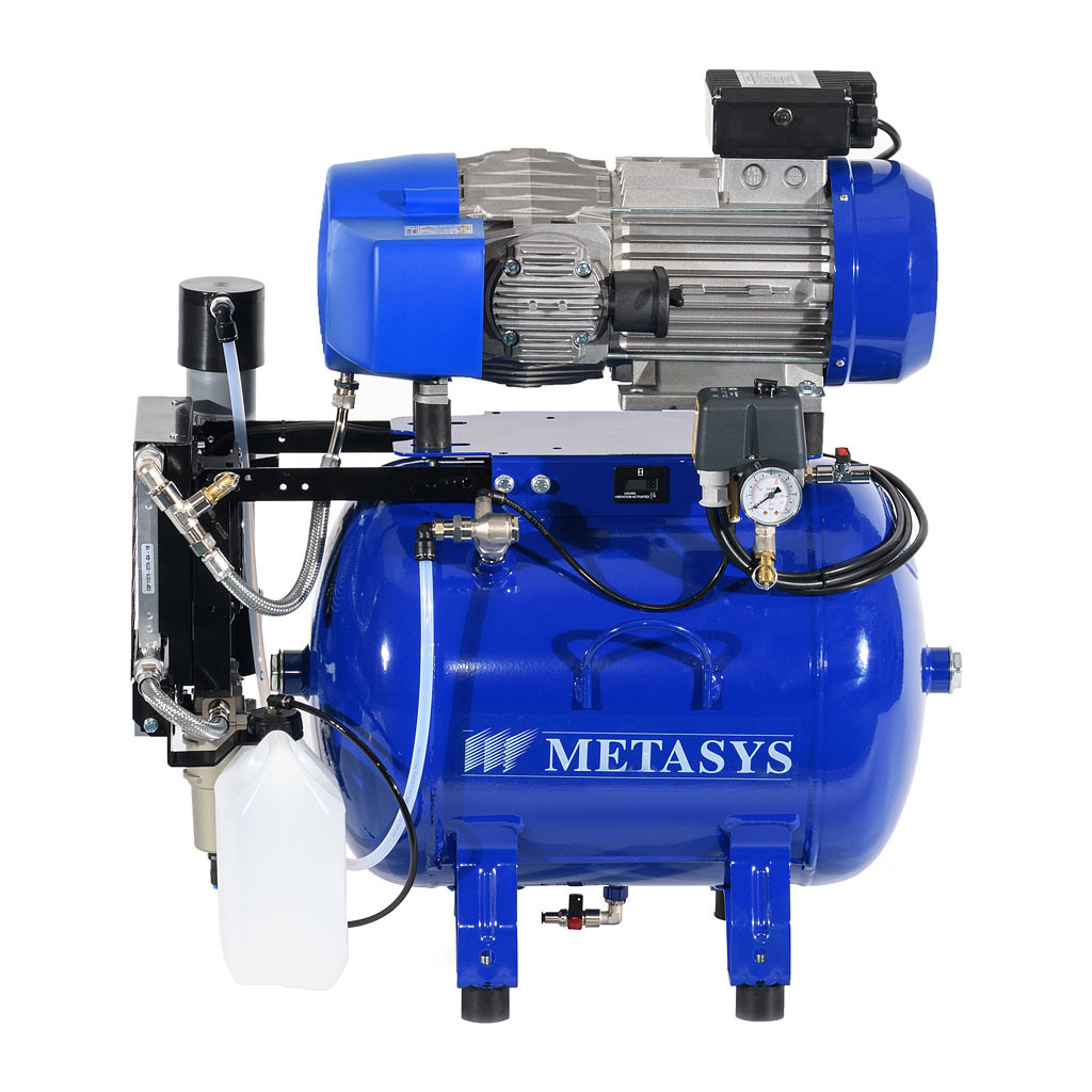 Das Produkt Metasys Meta CAM 150 CAD/CAM Kompressor, Schalldämmbox, Membrantrockner 03030104 aus dem Global-dent online shop.