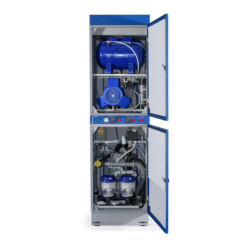Das Produkt Metasys Meta Tower A2, Komplettanlage Kompressor, Absaugung und Amalgamabscheider, 230 Volt 07010013 aus dem Global-dent online shop.