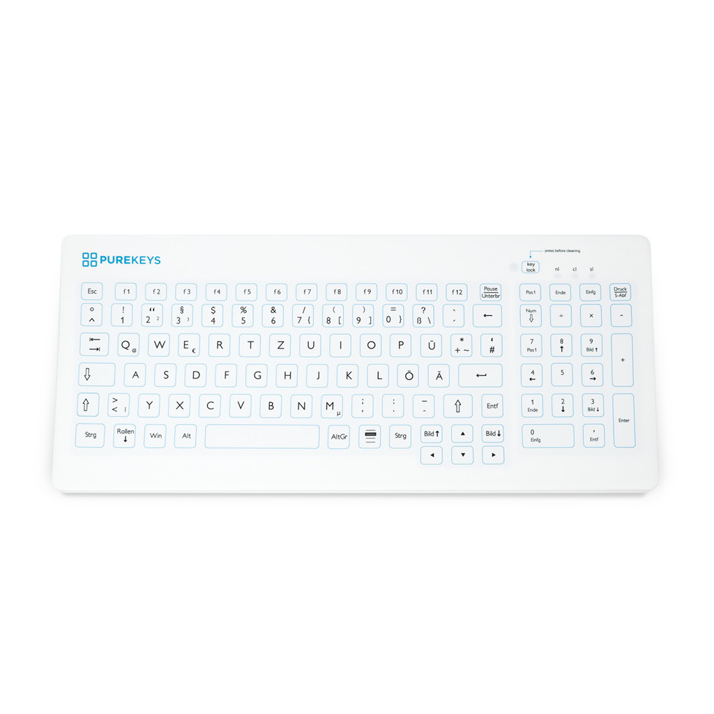 Das Produkt PUREKEYS Medizinische Tastatur Kompakt, IP 66-Weiß-Kabellos 40404900 aus dem Global-dent online shop.