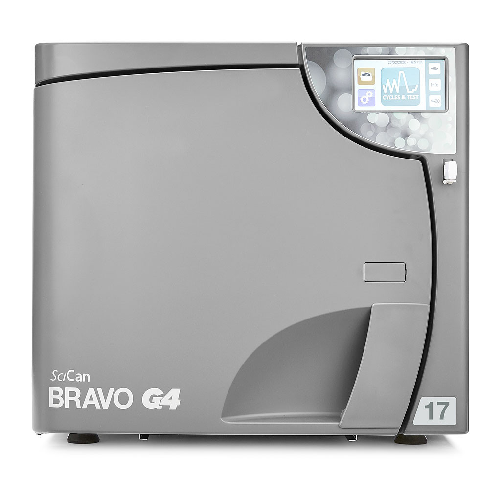 Das Produkt Scican Kammerautoklav BRAVO G4, Kammergröße 17 Liter, G4-Cloud, WLAN aus dem Global-dent online shop.