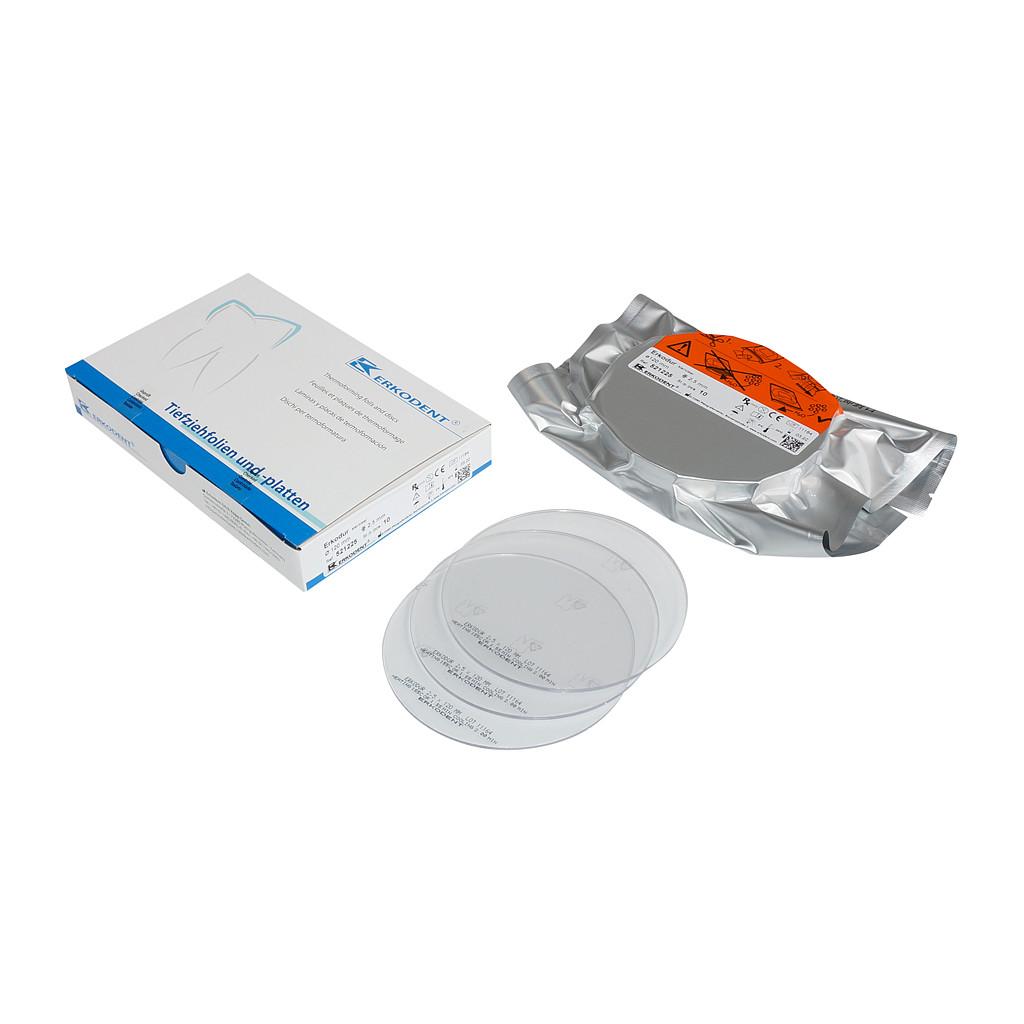 Erkodent Erkodur Tiefziehfolie klar, 0,5 mm, 20 Stück 521205