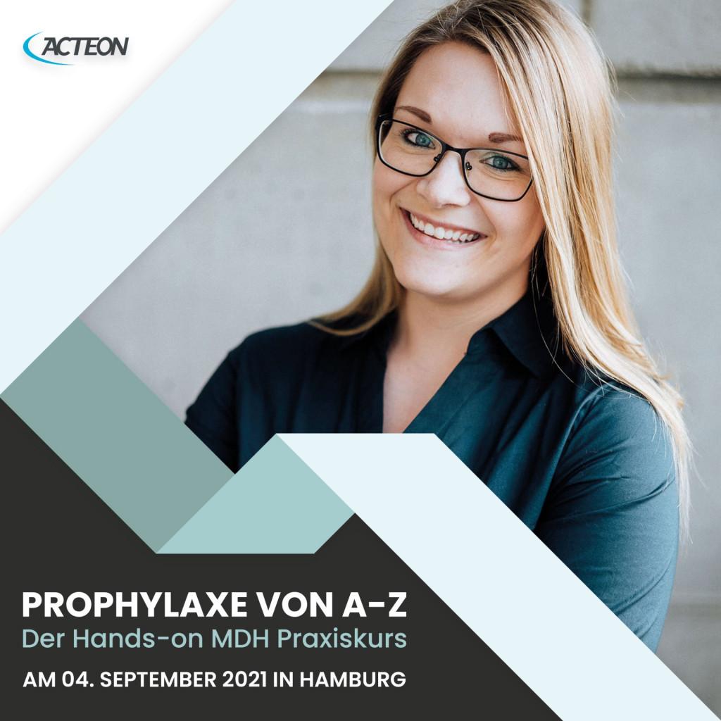 Das Produkt Acteon MDH Praxiskurs Prophylaxe von A bis Z, Design Offices Hamburg, 04. September 2021 aus dem Global-dent online shop.
