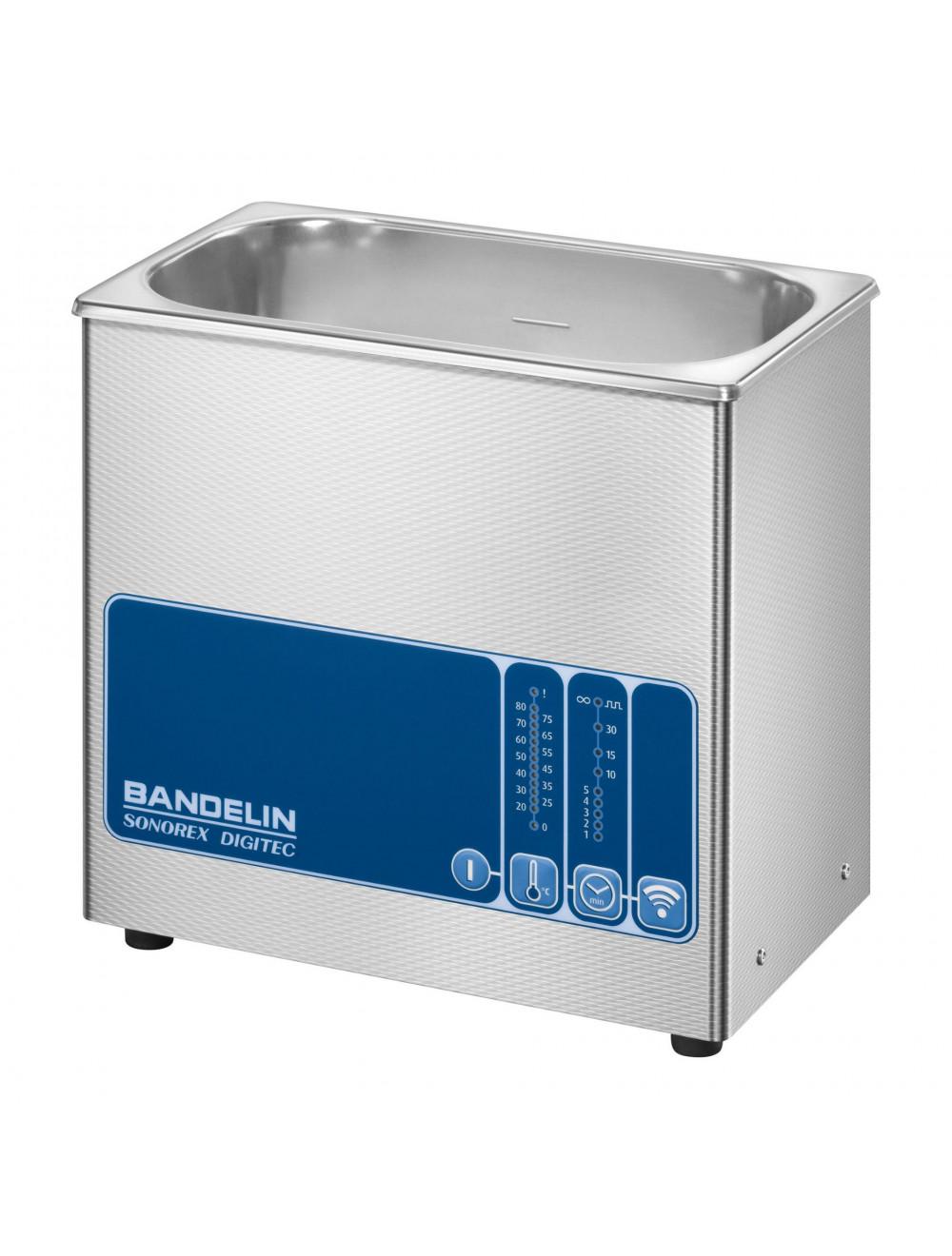 Bandelin SONOREX DIGITEC DT 100 H Hochleistungs-Ultraschallbad für die Reinigung und Probenbehandlung in wässrigen Flüssigkeiten, Heizung 3230