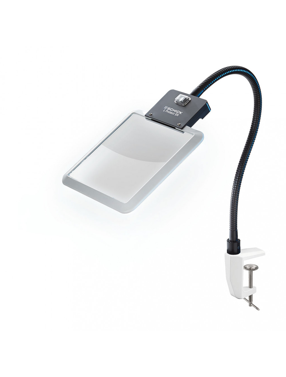 Schick L Protect SH-D LED-beleuchtete Schutzscheibe mit fexiblem Schwanenhals mit Tischklemme 4479